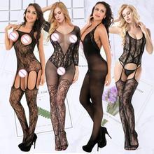 цена на hot erotic lingerie sexy apparel mesh sexy lingerie erotic dress crotchless lingerie bodysuit set dominatrixs lingerie stocking