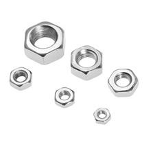 цена на 100Pcs/lot  M2/M2.5/M3/M4/M5/M6 Carbon Steel Screws Nuts Metric Thread Hex Nuts Silver Hexagon Nut For Screws Bolts Fasteners