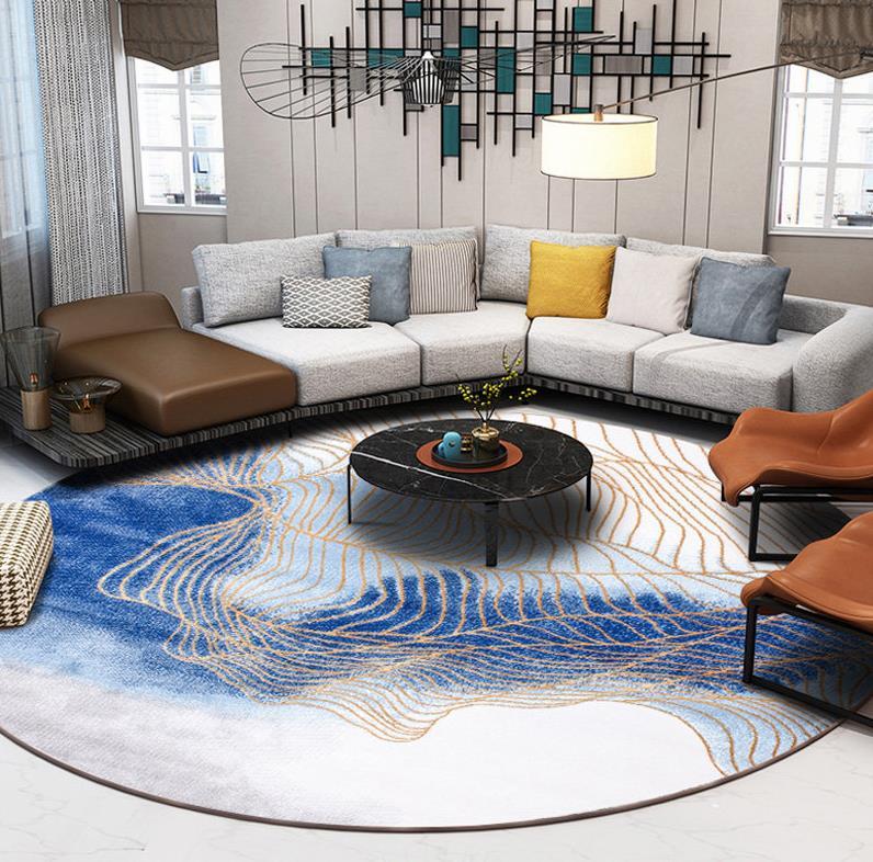 Скандинавские ковры для гостиной, домашний декоративный круглый ковер для спальни, дивана, журнального столика, круглый ковер, современный коврик для Кабинета - Цвет: 311101