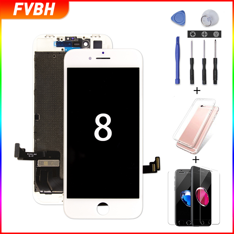 Pantalla Screen For IPhone 8 8 Plus Display Replacement 3D Touch Digitizer Assembly Screen For A1863 A1905 A1906 No Dead Pixel +