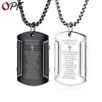 OPK high grade Jewelry Vintage Scripture stainless steel men's Pendant punk fashion trend Cross Necklace