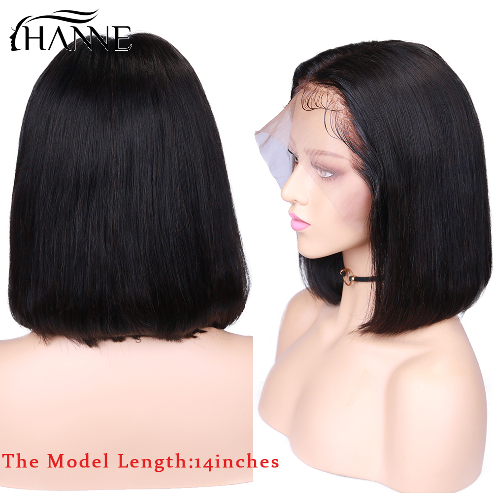 100% Full Lace Front Human Hair Wigs Deep Part Lace Front Human Wig for Black Women Preplucked Brazilian Straight Wig Remy Hair