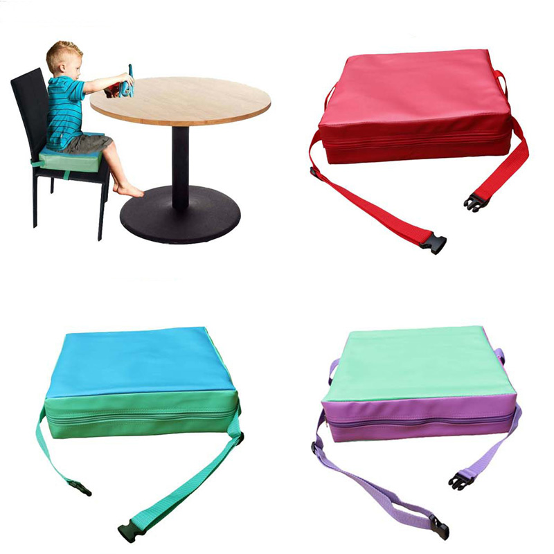 High Quality Children Increased Pad Baby Booster Seat Cushion Adjustable Removable Kids Dining Chair