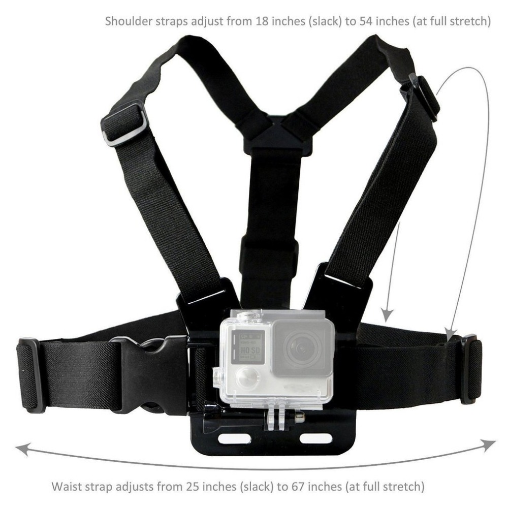 GoPro Accessories Adjustable Chest Mount Harness Chest Strap Belt for GoPro HD Hero 8 7 6 5 4 3+ 3  SJ4000 SJ5000 Sport Camera 4