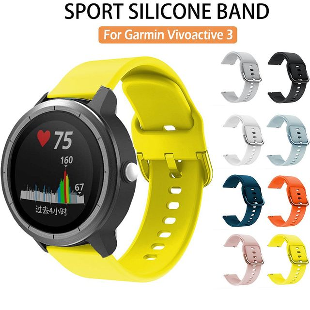 Silikon saat kayışı Kayışı Garmin Vivoactive 3 Müzik/Forerunner 645 245 245M akıllı bilezik Spor Watchband Correa Bant