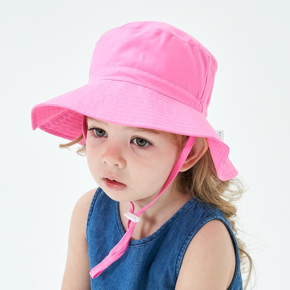 Girls Summer Flower Sun Hat Cotton Wide Large Brim Beach Hats For Kids Hat  Sun Bonnet