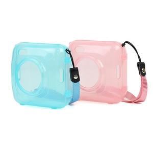 Image 4 - Fashion Transparent Blue Pink Bag Case for PAPERANG P1 Printer Photo Printer Camera Bag Travel Accessories