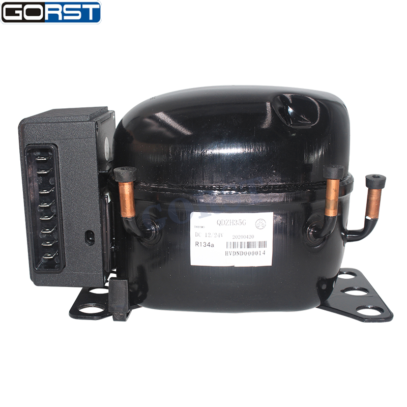 12V 24V DC Car Refrigeration Air Compressor Fridge Freezer Marine Solar QDZH35G R134a-1
