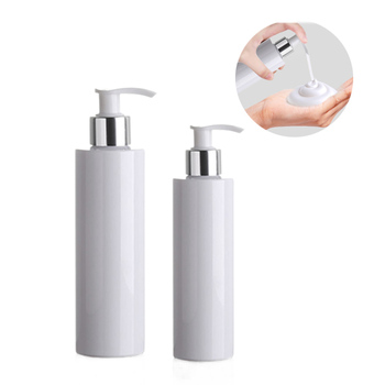 24pcs/lot 100ml 150ml 200ml empty refillable lotion bottle white PET bottle with lotion pump for shampoo Cosmetic Travel Bottle 100ml empty clear pet cream container portable cosmetic travel shower lotion bottles personalized sample lotion bottle