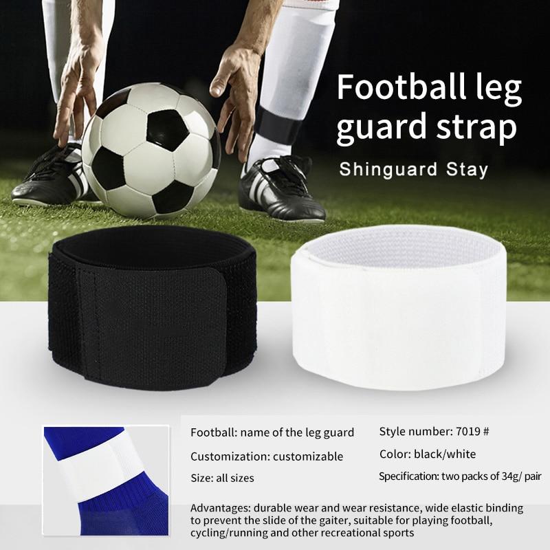 1Pair Soccer Shin Guard Stay Fixed Bandage Tape Shin Pad Prevent AdjustableBe FG
