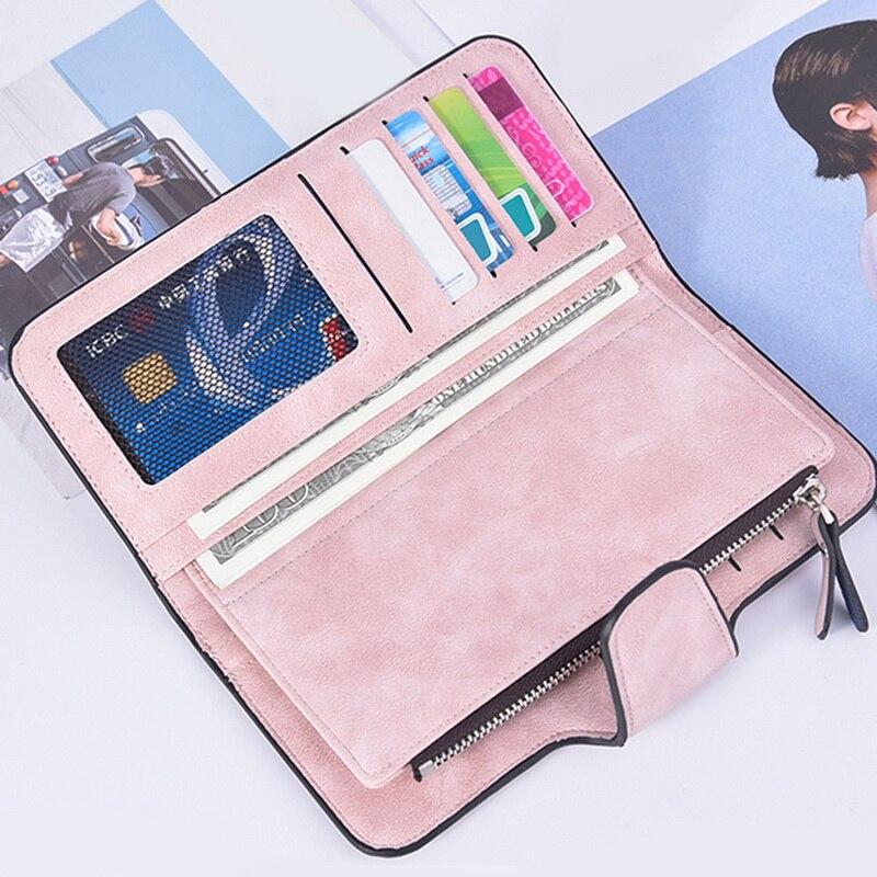 2020 Leather Women Wallets Tassel Wallet Women Long Cute Wallet Zipper Portefeuille Female Purse Clutch Cartera Mujer