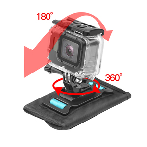 Image 2 - SHOOT 360 degrés rotatif sac à dos fixation par pince pour GoPro Hero 9 8 7 noir Xiaomi Yi 4K Sjcam Eken ceinture dépaule pour accessoire GoPro