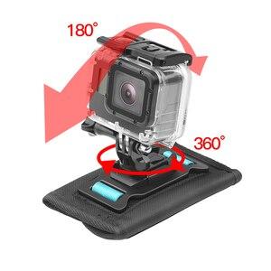 Image 2 - SHOOT 360 stopni obrotowy plecak klip góra dla GoPro Hero 9 8 7 czarny Xiaomi Yi 4K Sjcam Eken pasek na ramię dla GoPro akcesoria