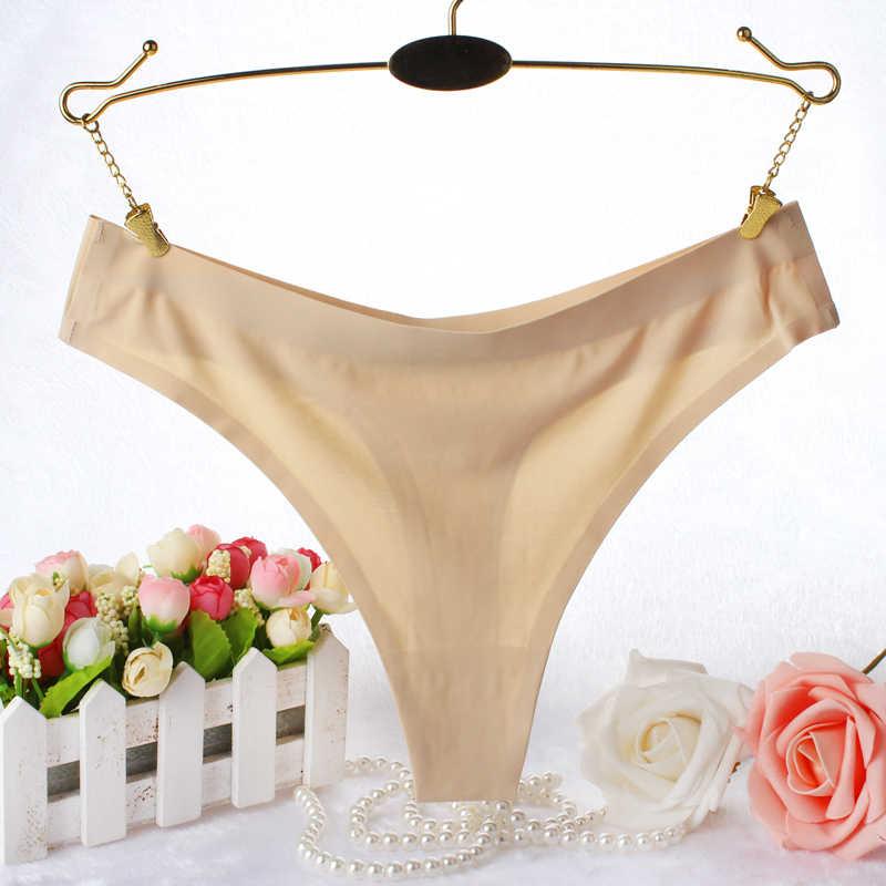 ผู้หญิงใหม่สุภาพสตรีสุภาพสตรีขนาดใหญ่ Stretch One-piece ไม่มีรอยต่อน้ำแข็งผ้าไหมชุดชั้นในเซ็กซี่กางเกง Breathable T