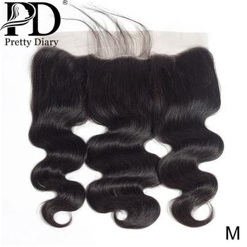 13 #215 4 koronkowe przednie zamknięcie brazylijskie ciało fala ludzkie włosy naturalną linią włosów z dzieckiem włosy 100 ludzkie włosy doczepy z włosów typu Remy tanie i dobre opinie Pretty Diary Remy włosy BR (pochodzenie) 13 x 4 130 Brazylijski włosy Ręka wiążący Swiss koronki Ciemniejszy kolor tylko