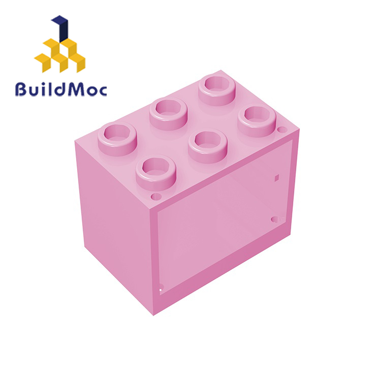 BuildMOC Assembles Particles 92410 Container Cupboard 2x3x2 For Building Blocks Parts DIY LOGO Educational Gift Toys