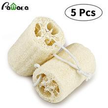 5 шт/компл губка для тела ванны душа scrubber натуральная луфа