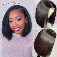 Recto peluca con malla Frontal pelucas de cabello humano Bob corto 6-14in pelo brasileño recto 13*4 peluca Frontal de encaje para las mujeres negras pelo de bebé