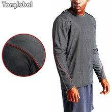 2021 New Men Football Gym Running T-shirts Long Sleeves Fitness Thermal Sports Male Winter Basketball Fashion Shirts Sportswear