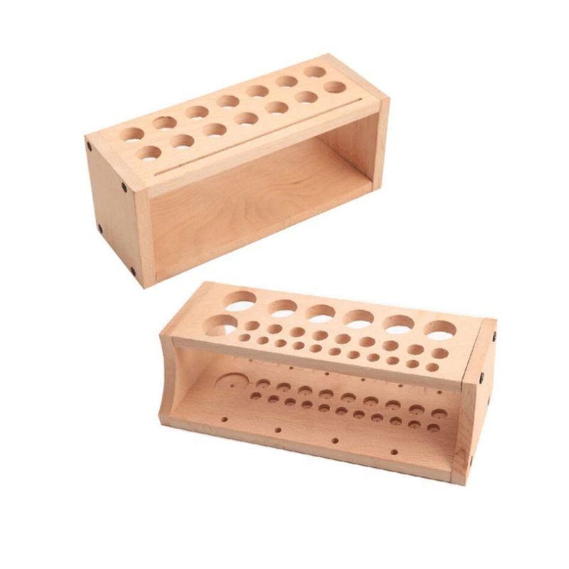 Wooden Organizer Rack Holder Different Sizes Slots Storage Box For DIY Tools G8TB