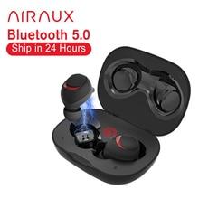 Dla BlitzWolf AIRAUX Mini słuchawki oryginalne słuchawki bezprzewodowe bluetooth 5.0 Hi Fi słuchawki Stereo wodoodporny Sport bezobsługowy zestaw słuchawkowy