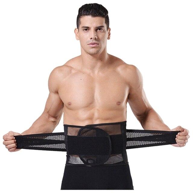 Men Belly Waist Shaper Belt Abdomen Tummy Trimmer Cincher Girdle Burn Fat XL