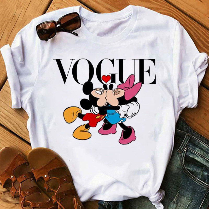 Hot Summer 2020 Kawaii Mouse Print Fashion Women's Clothing Trend Cute Style Printed Casual Clothes T-shirt Ladies