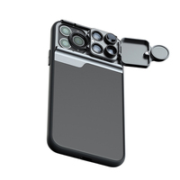 5 in 1 Phone Lens Case Kit 20X Super Macro Lens CPL Fisheye Telephoto Lens for iPhone 11 Pro Max Phone Case with Lens Kit Mobile Phone Lens     -