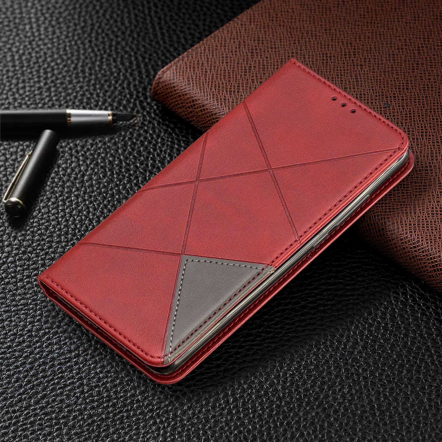 Leather Flip Stand Case For Xiaomi Redmi 8 7 7A Note 7 8 Pro 8T K20 K30 Mi 9T For Redmi 8A 7A Wallet Phone Bag Card Slots Cover image