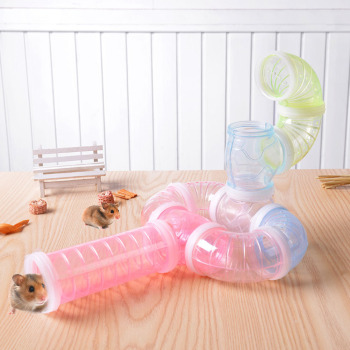 2019 Hot Sell Multi-Style Hamster Tunnel Fittings Transparent Acrylic Cage Hamster Accessories Cheap Small Pet Toys 1