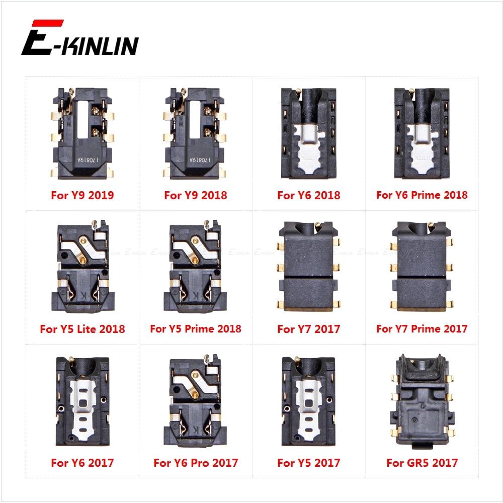 Ear Earphone Port Connector Headphone Jack Audio Flex For HuaWei Y9 2019 Y7 Y6 Y5 Prime Lite 2018 GR5 2017 Repair Parts