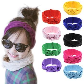2pcs Bowknot Baby Headband Elastic Turban Hairband Bows Girl Headbands Hair bands for Girls Haarband accessories