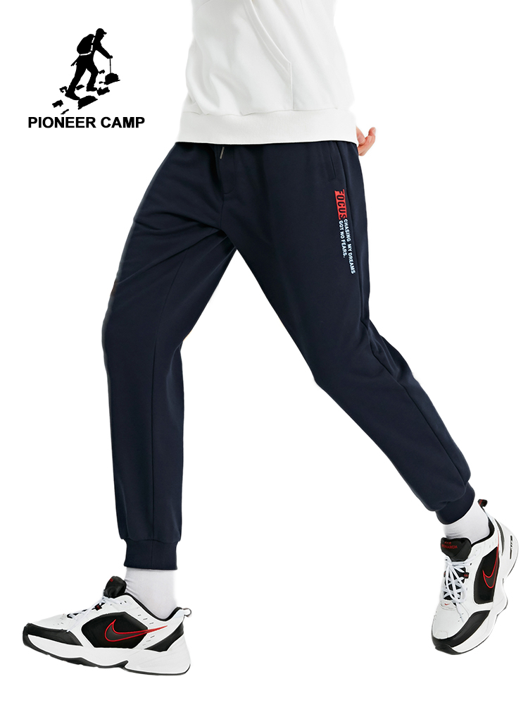Pioneer Camp Fashion Men's Sweatpants Black Causal Cotton Autumn Sportswear Joggers Male Trousers 2019 AZZ901298