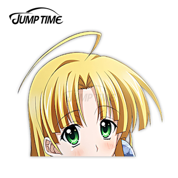 Jump Time Anime High School DxD Asia Argento 24 7.9 Bumper Window Helmet Vinyl Decal Peeker Car Stickers image