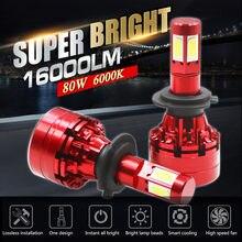 4 стороны 16000lm h7 светодиодные лампы без ошибок h4 led canbus