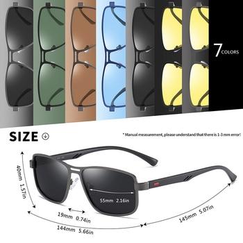 AOFLY Brand 2020 Fashion Sunglasses Men Polarized Square Metal Frame Male Sun Glasses Driving Fishing Eyewear zonnebril heren 6