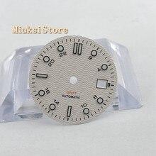 1 CÁI 31.5mm vô trùng trắng Mặt Số đồng hồ Phù Hợp Với ETA 2836/2824 DG2813/3804 Miyota 8215 821A 8205 tự động chuyển động p933 N