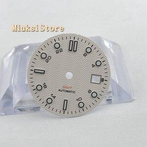 Image 1 - 1PCS 31.5mm סטרילי לבן שעון חיוג Fit ETA 2836/2824 DG2813/3804 Miyota 8215 821A 8205 אוטומטי תנועה p933 N