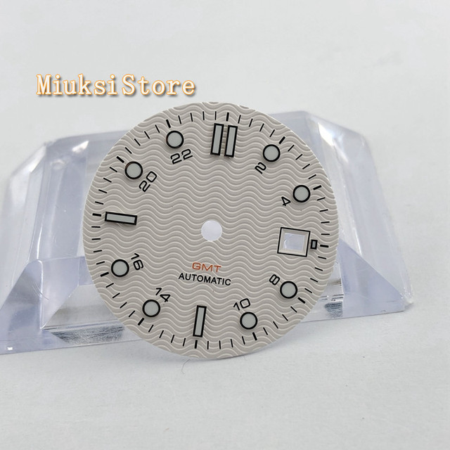 1PCS 31.5mm סטרילי לבן שעון חיוג Fit ETA 2836/2824 DG2813/3804 Miyota 8215 821A 8205 אוטומטי תנועה p933 N