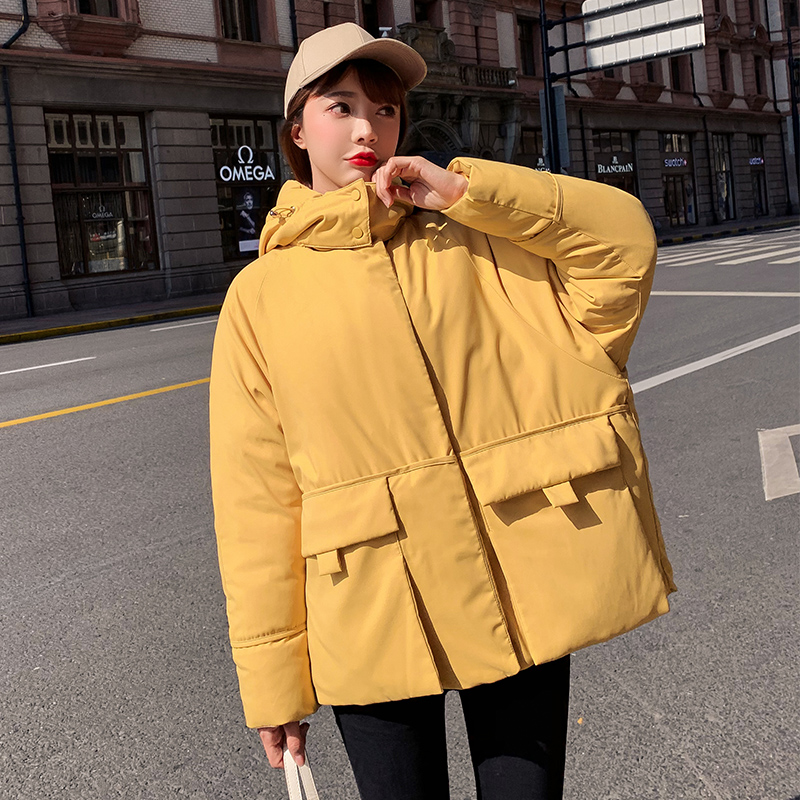 Hooded Thickening Fashion   Parka   Jacket Winter Padded Coat Fur Autumn Woman Warm Female 2019 New Women Solid Cotton Pocket