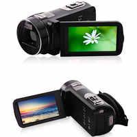 Venta al por mayor negro oro portátil Full Hd 1080p visión nocturna cámara de vídeo Digital con remoto videocámaras Uso de viaje en casa al aire libre