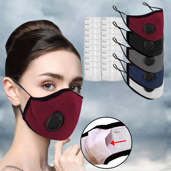 PM2.5 Breathing Adults Mask Washable Cotton Haze Valve Dust Proof Mouth Face Masks Activated Carbon Filter Respirator Mouth L727 2017 new arrival hot selling respiration valve industrial gas masks activated carbon filter safety mask labor protection