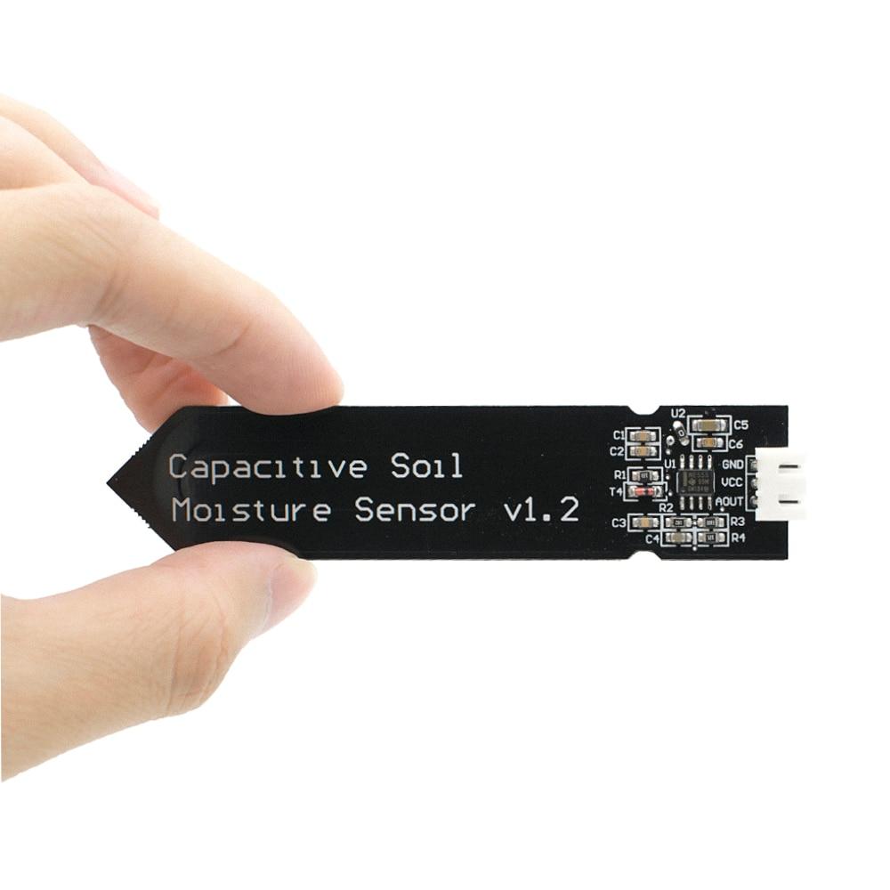 Емкостный модуль датчика влажности почвы устойчивый к коррозии широкий провод напряжения аналоговый емкостный датчик влажности почвы V1.2