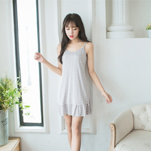2019 summer strap nightdress female spring and cotton fresh sexy cute sweet girldress