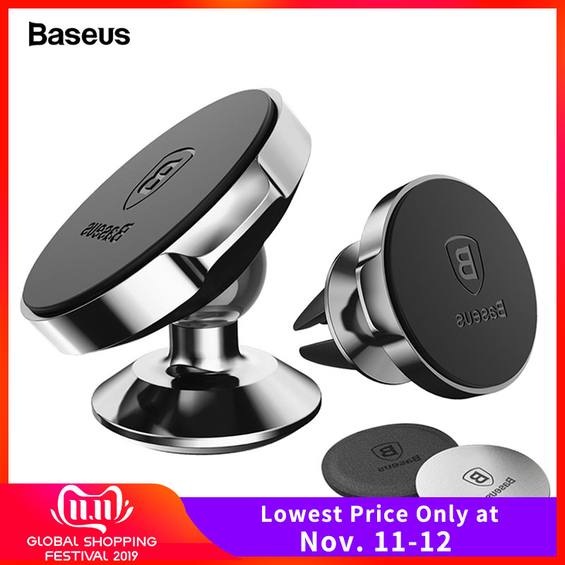 Baseus Magnetic Car Phone Holder For IPhone Xs Max X Samsung S9 S8 Magnet Car Mount Holder Stand Universal GPS Cellphone Support
