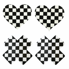 10pairs (200Pcs)/lot women Nipple Covers Plaid heart and Cross/X Breast Pasties