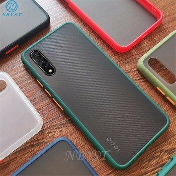 Перейти на Алиэкспресс и купить ДЛЯ VIVO V17 NEO V15 Pro матовый Силиконовый противоударный чехол для телефона VIVO Z6 IQOO NEO Pro NEX 3 X30 X23 X27 Pro X21 UD