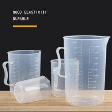 250/500/2000ml copo de medição plástico transparente do laboratório da cozinha graduou a ferramenta volumétrica do recipiente 1 pces