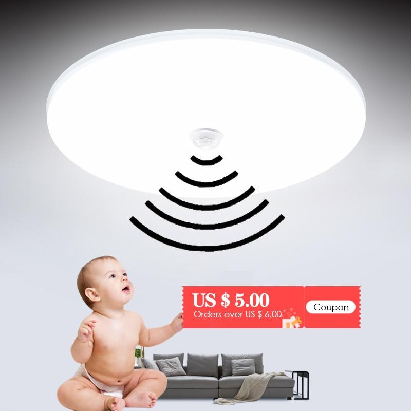 Leds Decke Licht Kronleuchter Motion Sensor LED-Panel Decke Lampe 220V 110V 12W/18W Lichter für Wohnzimmer Wohnkultur Beleuchtung