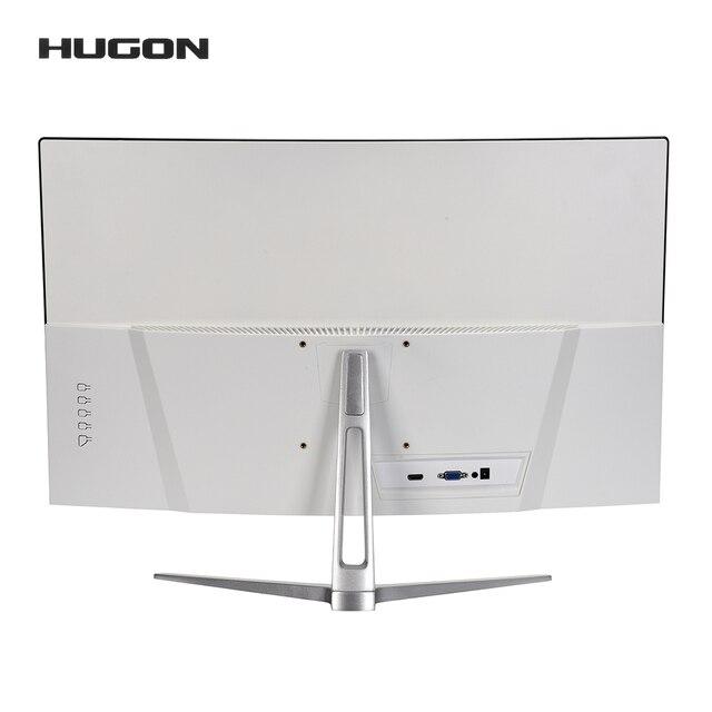 HUGON 24 Inch 1920×1080p TFT/LCD PC 75Hz HD Curved Gaming Monitor Display Desktop Screen VGA For HDMI Interface 4